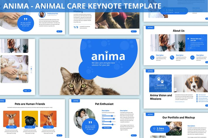 Thumbnail for Anima - Animal Care Keynote Template