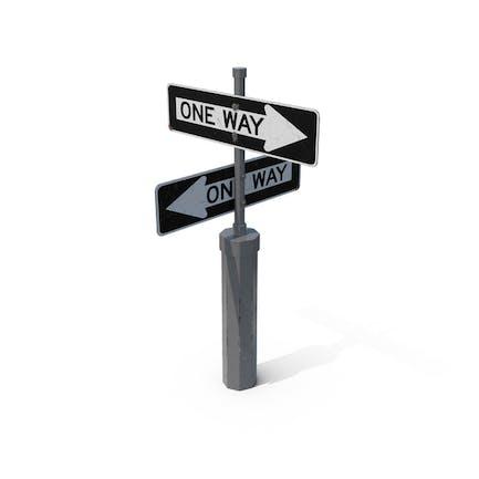 Оne Way Verkehrsschilder