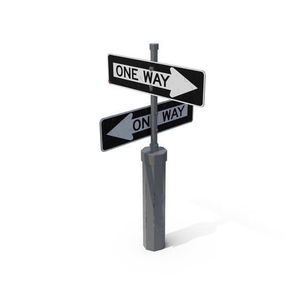 Оne Way Road Signs