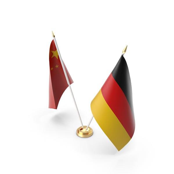 Tischflaggen Deutschland und China