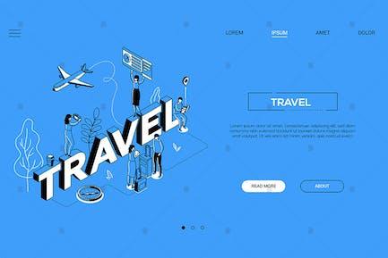 Travel agency isometric illustration