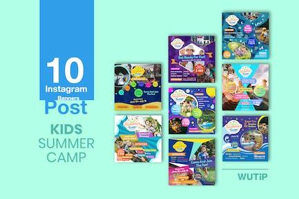 10 Instagram Post - Kids Summer Camp