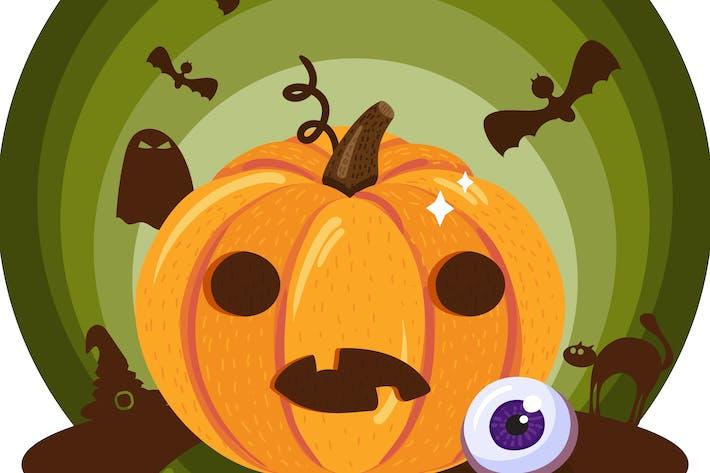 Thumbnail for Halloween Pumpkin Illustration