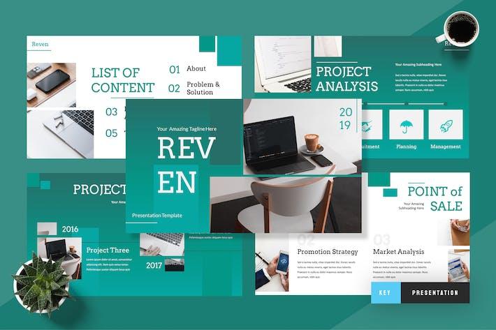 Cover Image For Reven - Pitch Deck Keynote Presentation