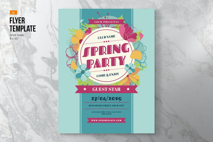 Thumbnail for Spring Flyer Template
