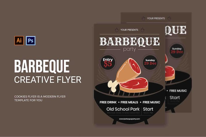 Barbeque Beef - Flyer