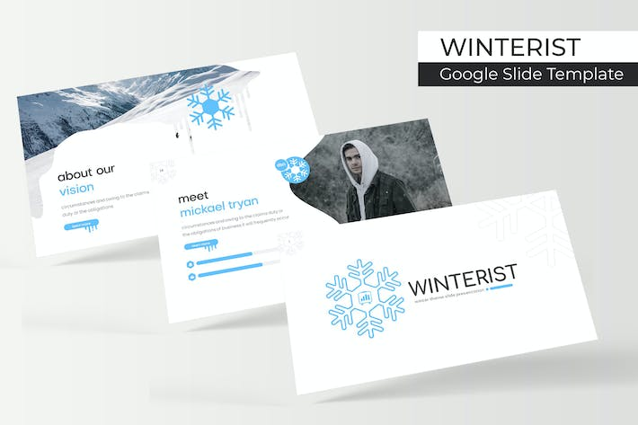 Cover Image For winterist - Google Slide Template