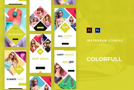 Colorfull Instagram Story
