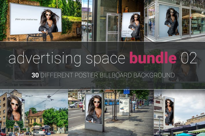 Thumbnail for Advertising Space Mock-up Bundle 02