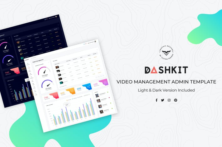 Video Management Admin Dashboard UI Kit