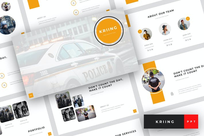 Thumbnail for Kriing - Security PowerPoint Template