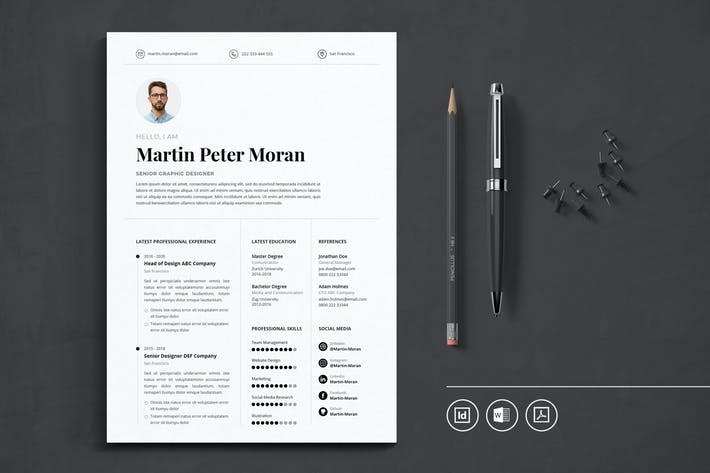 Thumbnail for Professional CV Resume Indesign Template Vol.39