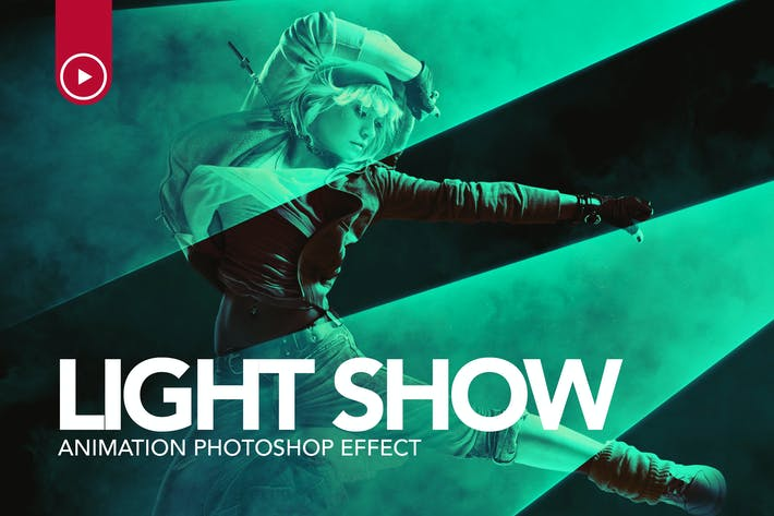 Thumbnail for Light Show Animation Photoshop Action