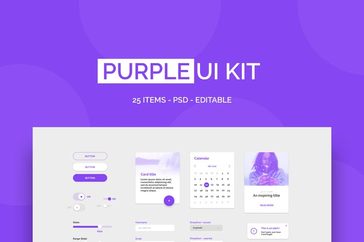 Thumbnail for Purple UI Kit