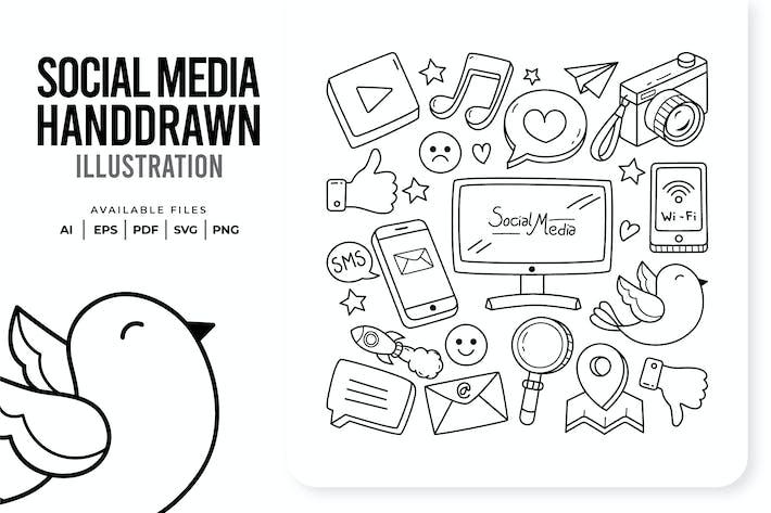 Thumbnail for Социальные медиа Нарисованные