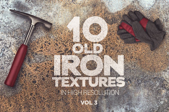 Thumbnail for Old Iron Textures x10 vol3