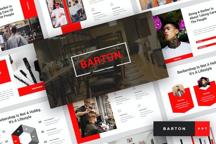 Barton - Barbershop PowerPoint Template