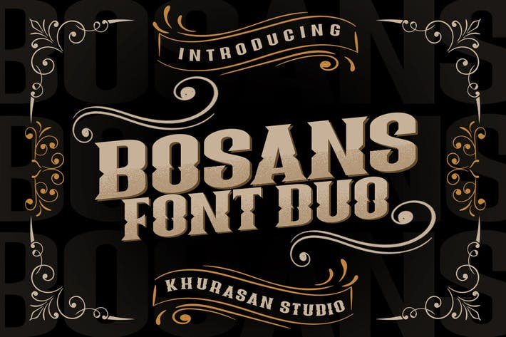 Thumbnail for Bosans Font Duo
