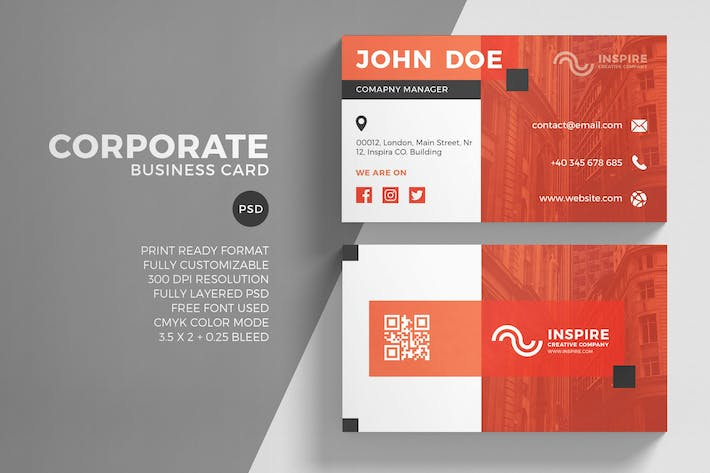 All the templates you can download envato elements thumbnail for corporate business card template flashek Choice Image