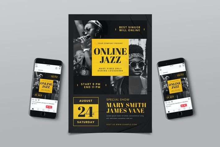 Thumbnail for Online Jazz Music Flyer