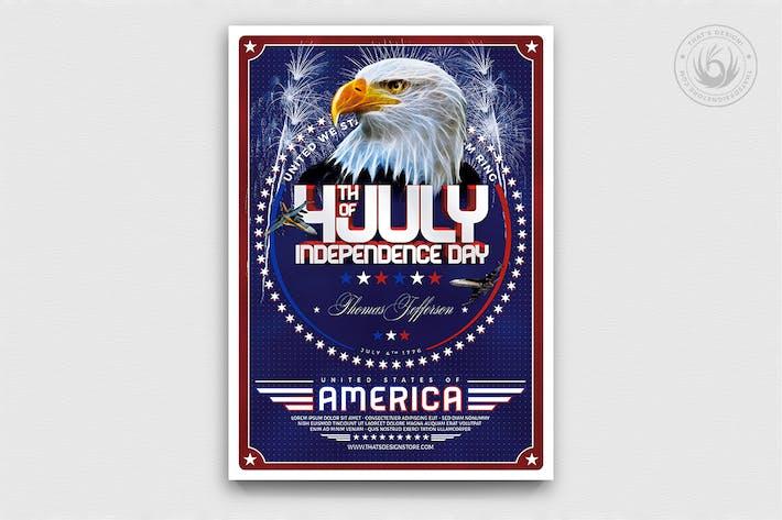 Thumbnail for Plantilla de Folleto del Día de la Independencia V2