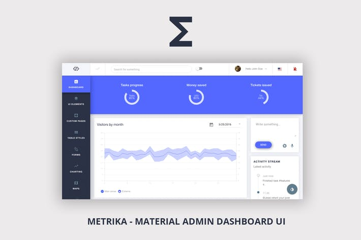 Download 11 angularjs website templates on envato elements metrika pronofoot35fo Gallery