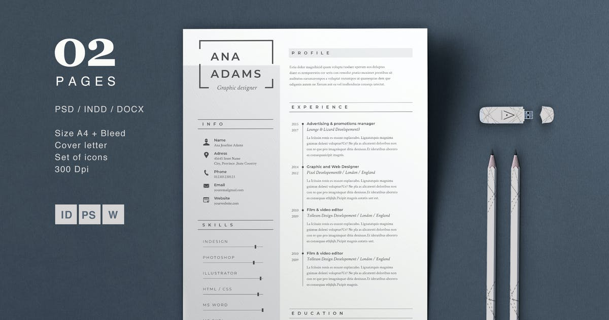 Resume Anna By Sz81 On Envato Elements