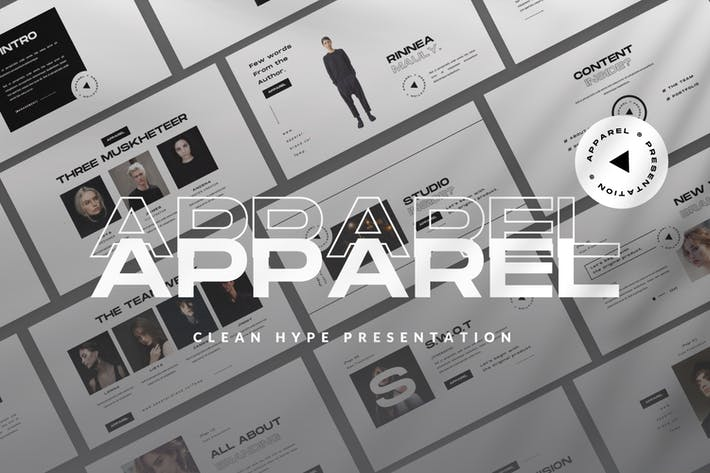 Thumbnail for Apparel Google Slide Apparel Presentation Template