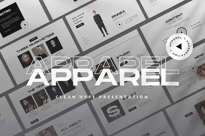 Cover Image For Apparel Google Slide Apparel Presentation Template
