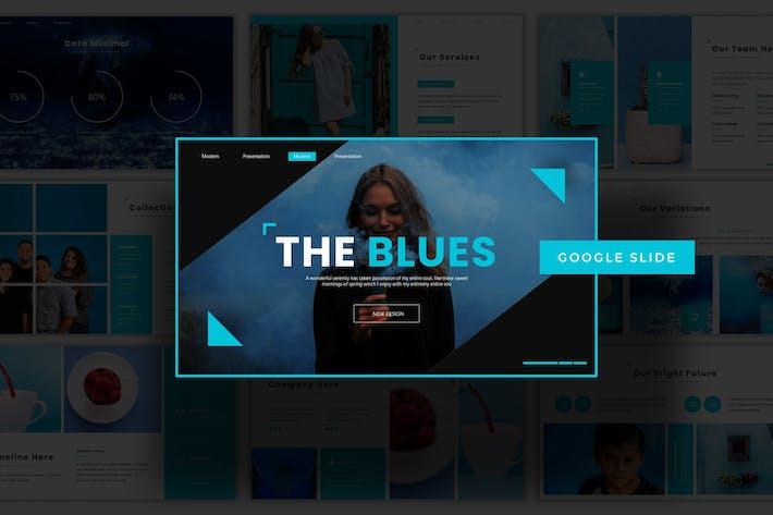 Thumbnail for The Blues - Google Slide Template
