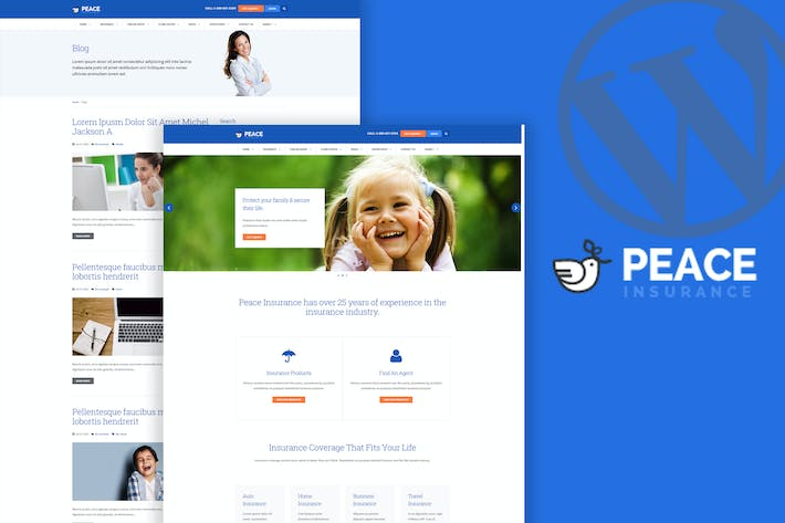 Thumbnail for Peace – Insurance Agency WordPress Theme