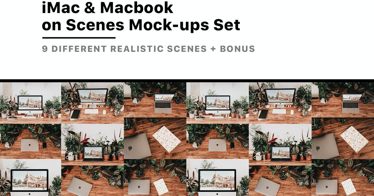 Download iMac & Macbook on Scenes Mock-ups by mankoff