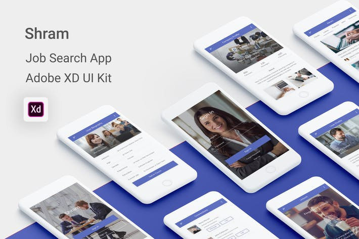 Thumbnail for Shram - Job Search UI Kit for Adobe XD