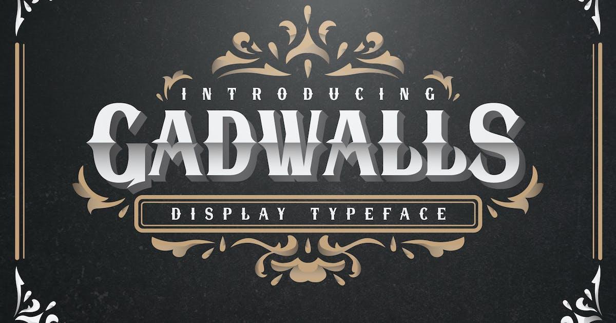 Download Gadwalls Display Font by graptailstudio