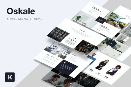 Oskale - Minimal Theme Keynote