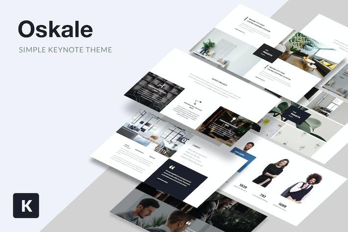 Thumbnail for Oskale - Keynote по минимальной Тема
