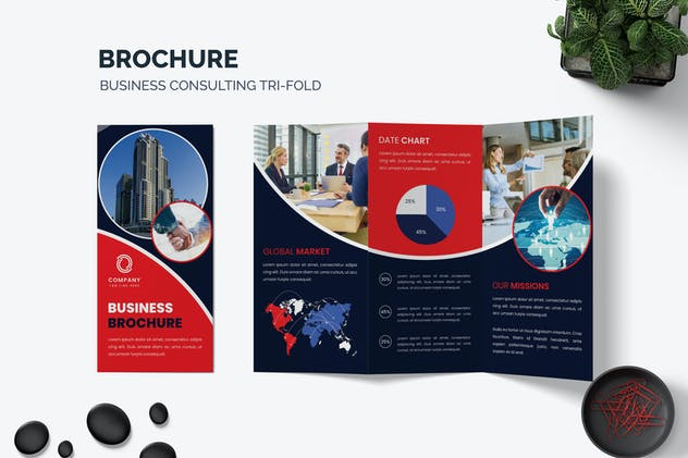 Agency Trifold Brochure Template