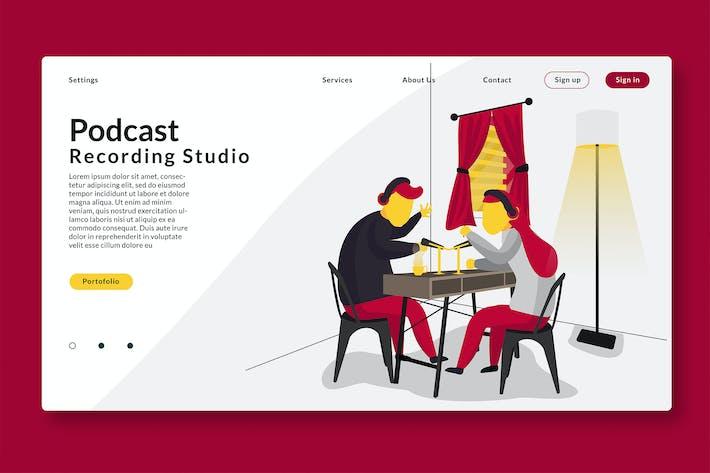 Thumbnail for Podcast Recording - Web Header & Vector GR