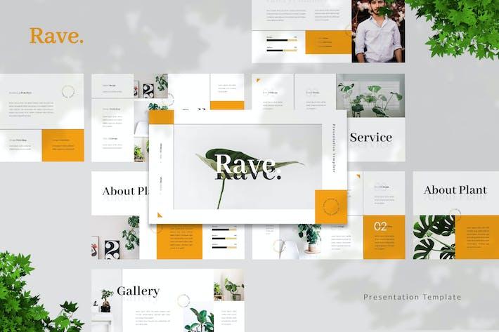 Thumbnail for Rave - Шаблон презентации растений