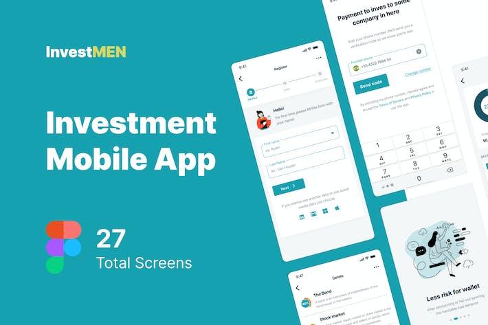 Thumbnail for Invest Men - Investment Mobile App UI kit Figma