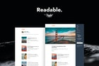Readable: Simple Blogging Theme for Ghost