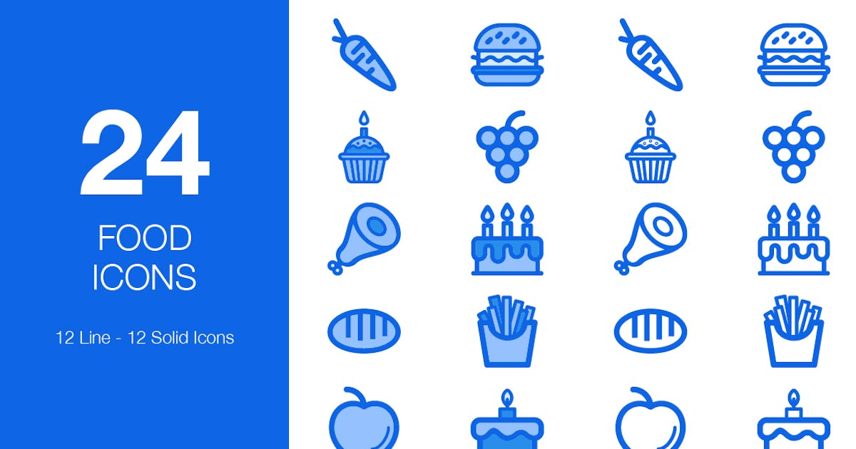 Download 24 Food Icons by CreativesCastle
