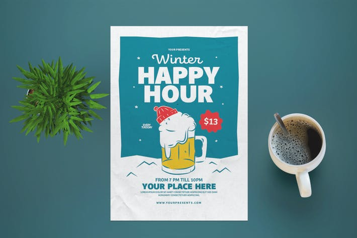 Thumbnail for Winter Happy Hour Flyer
