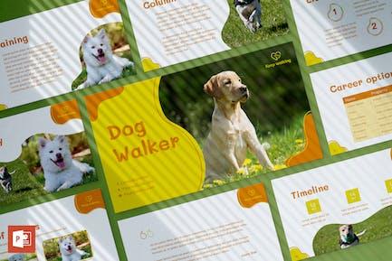 Dog Walker PowerPoint Presentation Template