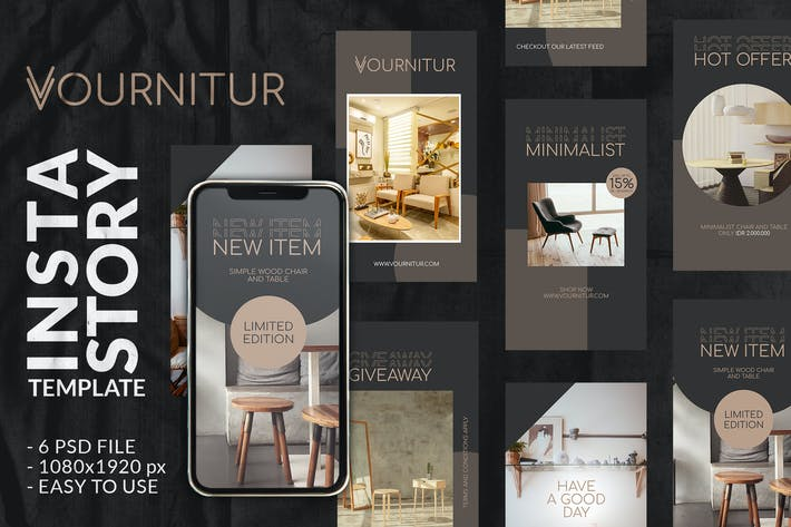 Thumbnail for Vourniture Instagram Story Template