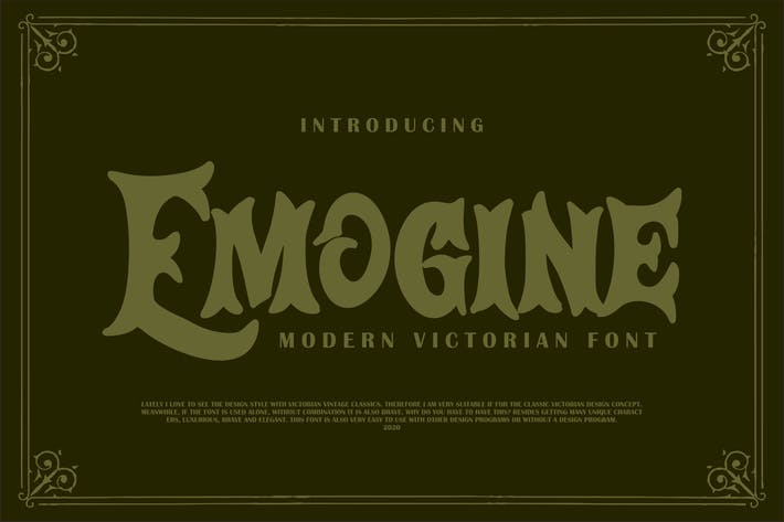 Thumbnail for Emogine | Modern Victorian Font