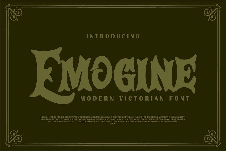 Emogine   Modern Victorian Font