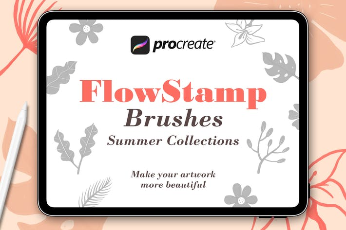 Thumbnail for FlowStamp - Procreate Brush