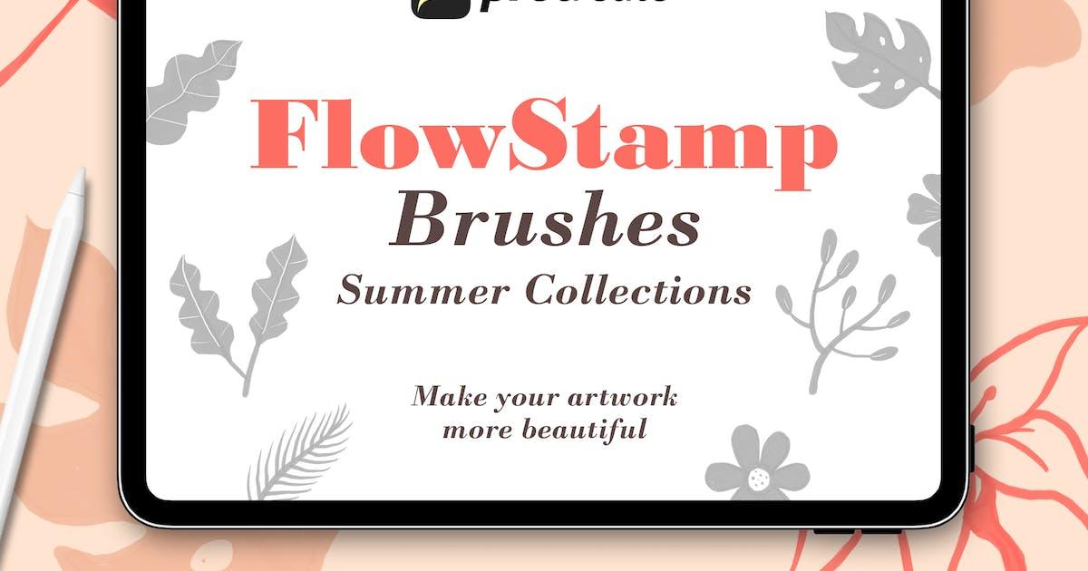 Download FlowStamp - Procreate Brush by Streakside
