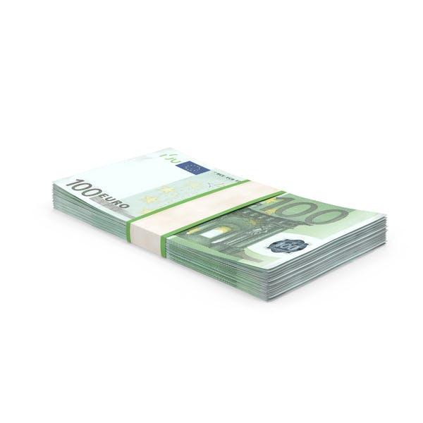 100 Euro Bill Stack
